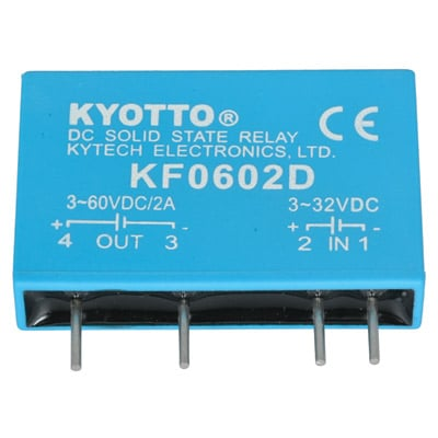 KF0602D: Kyotto : Relay Solid State 32 Volt DC Input 2 Amp