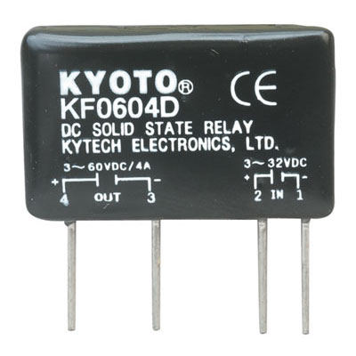 KF0604D Kyotto Relay Solid State 32 Volt DC Input 4 Amp 60 Volt