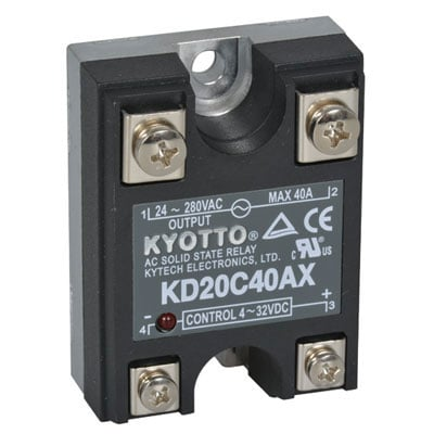 relay solid state 32 volt dc input 40 amp 280 volt ac output 4 pin