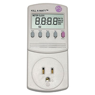 how to use kill a watt electricity usage monitor