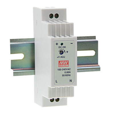 DR-15-12: MEAN WELL : AC to DC DIN-Rail Power Supply 12 Volt