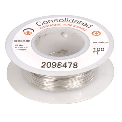 3819 100 jameco valuepro 24 awg solid tinned copper bus bar wire 24 awg solid tinned copper bus bar wire 100 feet greentooth Images