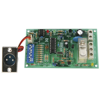 K8072: Velleman : DMX Controlled Relay Switch Kit : Electronic Kits