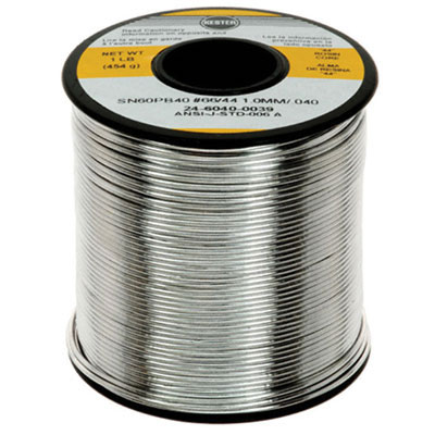 Kester 14-6040-0093 SN60PB40 Solid Wire Solder 16 OZ Solid 0.093 QQS571F WS