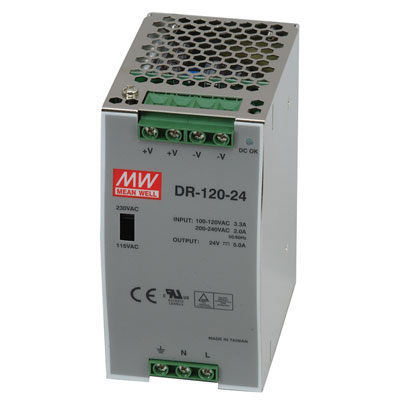 Dr 120 48 Mean Well Ac To Dc Industrial Din Rail Power
