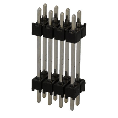 2.54 mm 2 Rows, Pack of 20 Header ZW Series Board-To-Board Connector ZW-06-14-T-D-905-220 12 Contacts Through Hole