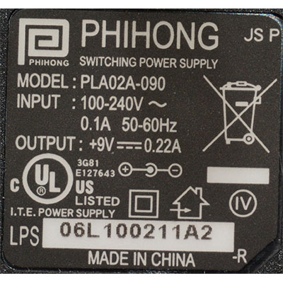 Power Supply label