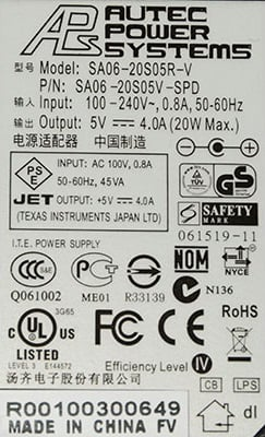 Power label sticker image