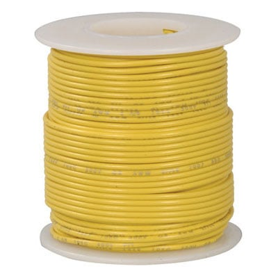 822-4: Jameco Valuepro : 18 AWG Yellow Stranded Tinned-Copper Hook ...