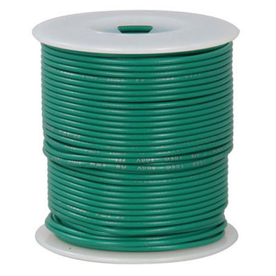 18 Awg Green Stranded Tinned Copper Hook Up Wire 100 Feet