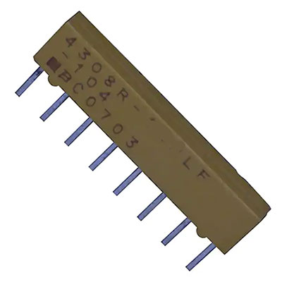 4306R-101-680LF Pack of 100 Resistor Networks Arrays 6pin 68ohms Bussed Low Profile