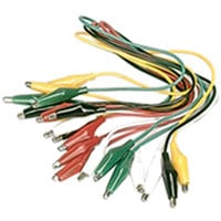 View GAL01: 10 Pack Alligator Clip Test Leads 24 AWG Wire
