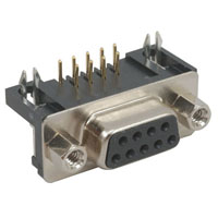 View DE09-SL-25: DSL Connector D-Sub .318 Inch Rt 9P-F Short Metal Housing
