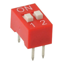 View 206-2-VP-R: Standard Slide-Raised DIP Switch 4 Pin, 2 Position
