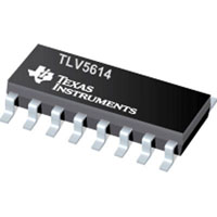 View TLV5614IPW: Digital to Analog Converter 4 Channel Resistor-String 12 Bit 16 Pin Tssop