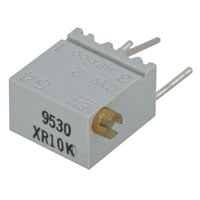 View 3266X-1-103VP: 1/4 Inch Square Cermet Trimming Potentiometer 12 Turn Ohms: 10K