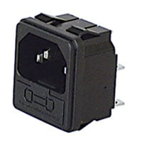 View 0717-1-R: Male AC Power Inlet Receptacle with Fuse Chamber