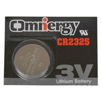 View CR2325: Battery Lithium 3V 165MAH 0.906 Inch Dia Renata Card
