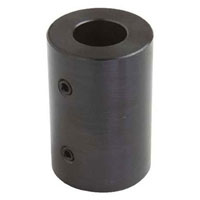 View RC-025: 1/4 Inch Spider Shaft Coupler Black Oxide without Keyway