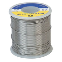View 8PK-033P: 1 Pound 60/40 Solder Roll 0.031 Inch Diameter