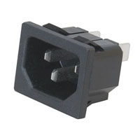 View 0711-PW: Male AC Power Inlet Receptacle Snap-In
