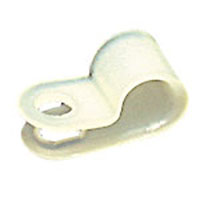 View UC-1: Cable Clamp 1/4 Inch 'Diameter Cable White Nylon