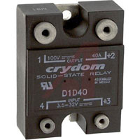 View D1D40: Relay Solid State 28MA 32 Volt DC Input 40 Amp 100 Volt DC Output 4 Pin