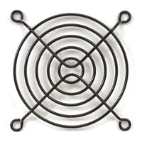 View SC80-W2B: 80MM Metal Fan Guard Black Anodized