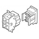 View 770027-1: Connector Housing Receptacle 6 Position 6.35MM Straight Panel Mount Bulk
