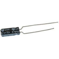 View R47/16TR: Capacitor Radial 47uf 16V 20% 5 X 12 X 5MM