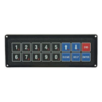 View 07-30009-000: Keyboard 16 Key 30MA 12VDC 16 Total Buttons