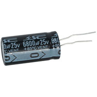 View EC680025H1836-R: Capacitor Radial 6800uf 25V 18MM X 35MM