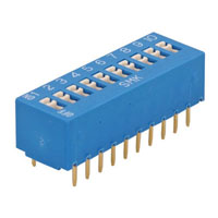 View J-S880010: Standard Slide-Flush DIP Switch 20 Pin, 10 Position
