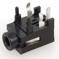 View HTJ-035-22D: 3.50MM Mono Jack Right Angle Horizontal