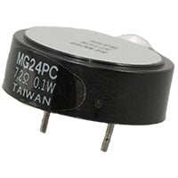 View PB140-ROX: Buzzer Piezo 5VP-P 80DB 4 Khz 5MA Pin Contacts (Audio Components)