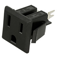 View NEMA-5-2: Male AC Power Outlet Nema Receptacle Snap-in Panel Mount