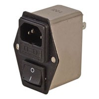 View PLF-6DZ2KR: PLF Male AC Power Inlet Receptacle with 5X20MM Fuseholder