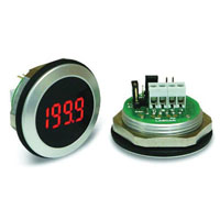 View EM 32-1B-LED: Round Hole Mounting LED Voltmeter (3.5 Digits)