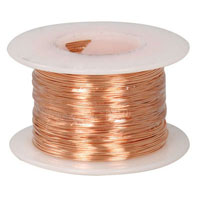 View 24BC: 1/4 Pound Spool AWG Solid Bare Copper Bus Bar Wire -205 Ft