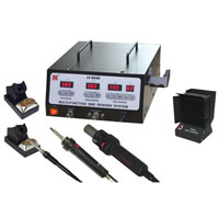 View LF-853D: 900W Lead-Free Multi-Function Soldering Rework Station with Fume Extractor