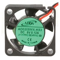 View AD0205MX-K53-LF: DC Brushless Tubeaxial Fan 5VDC
