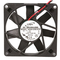View AD0812HS-D70-LF: 3W DC Brushless Tubeaxial Fan 12VDC