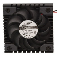 View AP0505HB-J90: Fan 5VDC 6.0CFM Ball DC Chip Cooler with 5 Inch Leads 50 X 50 X 8 MM