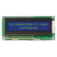 View LK162-12-WB-C166: Serial LCD Display with White Lettering and Blue Backlight