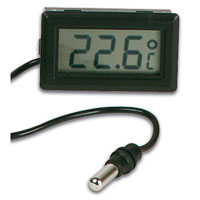 View PMTEMP1: Digital Thermometer Panel Mount -50 to 70C 52.5 X 27 X 14MM