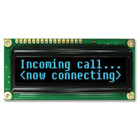 View NHD-0216KZW-AB5: Blue OLED Display Module