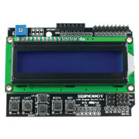 View DFR0009: LCD Shield for Arduino 16 Character X 2 Line HD44780 Compatible LCD