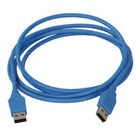 View LL84201: 6 Foot Blue USB 2.0 Male to Male Cable