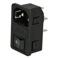 View IEC-GS-1-200: 15A Male AC Receptacle 2MM Panel (Power Connectors)