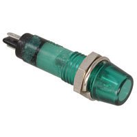 View F151-12G: 12 Volt Green Incandescent Panel Mount Lamp